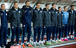Reserve players during football match between National teams of San Marino and Slovenia in Group E of EURO 2016 Qualifications, on October 12, 2015 in Stadio Olimpico Serravalle, Republic of San Marino. Photo by Vid Ponikvar / Sportida