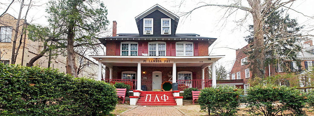 Fraternity House on Rugby Road at the University of Virginia, Charlottesville, Virginia