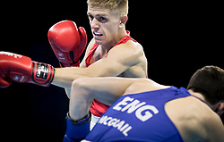 Northern Ireland's Kurt Walker (red) v England's Peter McGrail during thw Men's Bantam (56kg) final at Oxenford Studios during day ten of the 2018 Commonwealth Games in the Gold Coast, Australia.