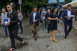 July 8, 2017 - Gdynia, Poland - The Nowoczesna party leader Ryszard Petru (CL) and Ewa Lieder (R) are seen in Gdynia, Poland on 8 July 2017 .Petru visits Gdynia to meet his supporters before incoming local elections campaign in Poland. (Credit Image: © Michal Fludra/NurPhoto via ZUMA Press)