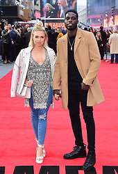 Gabby Allen and Marcel Somerville attending the European premiere of Rampage, held at the Cineworld in Leicester Square, London. Picture date: Wednesday April 11, 2018. See PA story SHOWBIZ Rampage. Photo credit should read: Ian West/PA Wire