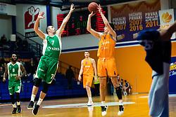 during basketball match between Helios Suns vs Krka, 15 round of Slovenian national championship, 13 January, 2020, Domzale, Slovenia. Photo By Grega Valancic / Sportida