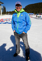 Borut Nunar during Women 12.5 km Mass Start competition of the e.on IBU Biathlon World Cup on Sunday, March 9, 2014 in Pokljuka, Slovenia. Photo by Vid Ponikvar / Sportida