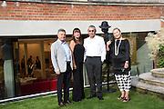 ALI GURELI; RABIA BAKICI GURELI; IZAK UZIYEL; FREDA UZIYEL, Dinner to celebrate the 10th Anniversary of Contemporary Istanbul Hosted at the Residence of Freda & Izak Uziyel, London. 23 June 2015