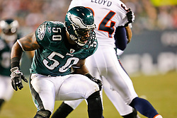 Philadelphia Eagles linebacker Will Witherspoon #50 during the NFL game between the Denver Broncos and the Philadelphia Eagles on December 27th 2009.  At Lincoln Financial Field in Philadelphia, Pennsylvania. (Photo By Brian Garfinkel)