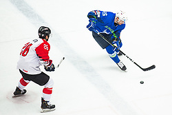 URBAS Jan (SLO) vs HIRANO Yushiroh (JAP) during OI pre-qualifications of Group G between Slovenia men's national ice hockey team and Japan men's national ice hockey team, on February 9, 2020 in Ice Arena Podmezakla, Jesenice, Slovenia. Photo by Peter Podobnik / Sportida