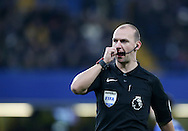 Referee Bobby Madley in action during the Premier League match at Stamford Bridge Stadium, London. Picture date December 31st, 2016 Pic David Klein/Sportimage