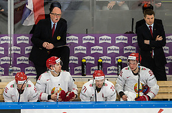Dave Lewis, head coach of Belarus during the 2017 IIHF Men's World Championship group B Ice hockey match between National Teams of France and Belarus, on May 12, 2017 in AccorHotels Arena in Paris, France. Photo by Vid Ponikvar / Sportida