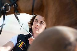 Wendy Laeremans, (BEL) - Horse Inspection Para Dressage - Alltech FEI World Equestrian Games™ 2014 - Normandy, France.<br /> © Hippo Foto Team - Jon Stroud<br /> 25/06/14