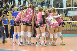 Team of Nova KBM Branik during volleyball match between Nova KBM Branik Maribor and OK Calcit Volley in the Final of Slovenian Women Volleyball Cup 2017, on December 22, 2017 in Hoce, Slovenia. Photo by Mario Horvat / Sportida