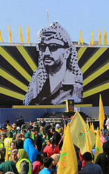 November 20, 2018 - Gaza City, Gaza Strip, Palestinian Territory - Palestinian Fatah supporters take part in a rally to mark the 14th anniversary of the death of late Palestinian leader Yasser Arafat in Gaza City on November 20, 2018  (Credit Image: © Mahmoud Khattab/APA Images via ZUMA Wire)