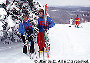 PA landscapes PA Ski Slopes, Downhill Skiers, Sking Young Adult Couple Skiers