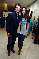DAVID GANDY and CHLOE PRIDHAM at a private view of Bryan Adam's photographs entitled 'Modern Muses' held at The National Portrait Gallery, London on 11th March 2008.<br /><br />NON EXCLUSIVE - WORLD RIGHTS