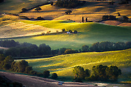 The Tuscany landscape in Orcia Valley during spring