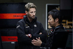 February 20, 2019 - Barcelona, Spain - GROSJEAN Romain (fra), Haas F1 Team VF-19 Ferrari, KOMATSU Ayao (jpn), Chief Engineer of Haas F1 Team, portrait during Formula 1 winter tests from February 18 to 21, 2019 at Barcelona, Spain - Photo  /  Motorsports: FIA Formula One World Championship 2019, Test in Barcelona, (Credit Image: © Hoch Zwei via ZUMA Wire)