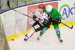 Piispanen Markus of HDD Jesenice during Hockey match between SZ HD Olimpija and HDD Jesenice in 4tht match of Quarterfinals of Alps Hockey League, on March 13, 2018 in Hala Tivoli, Ljubljana, Slovenia. Photo by Ziga Zupan / Sportida