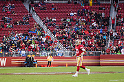 San Francisco 49ers quarterback Jimmy Garoppolo (10) runs onto the field during the final minute of gameplay against the Seattle Seahawks at Levi's Stadium in Santa Clara, Calif., on November 26, 2017. (Stan Olszewski/Special to S.F. Examiner)