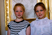 Russian girls at the Catherine Palace, Pushkin (near St. Petersburg), Russia