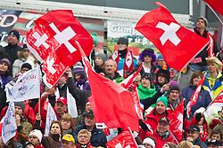 18.02.2011, Kandahar, Garmisch Partenkirchen, GER, FIS Alpin Ski WM 2011, GAP, Herren, Riesenslalom, im Bild feature Schweizer Fans during men's Giant Slalom Fis Alpine Ski World Championships in Garmisch Partenkirchen, Germany on 18/2/2011. EXPA Pictures © 2011, PhotoCredit: EXPA/ J. Groder