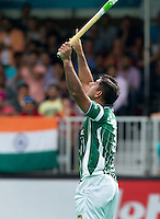 ANTWERP -   Muhammad Imran has scored (1-1)  during  the hockeymatch   India v Pakistan.  WSP COPYRIGHT KOEN SUYK