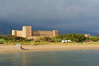 Grèce, Crète, Frangokastello, aussi appelé forteresse Saint Nikitas, château fort vénitien du XIVe siècle // Greece, Crete island, Frangokastello castle