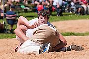 Foto von Schwinger am Boden beim Schwingfest auf Melchsee-Frutt