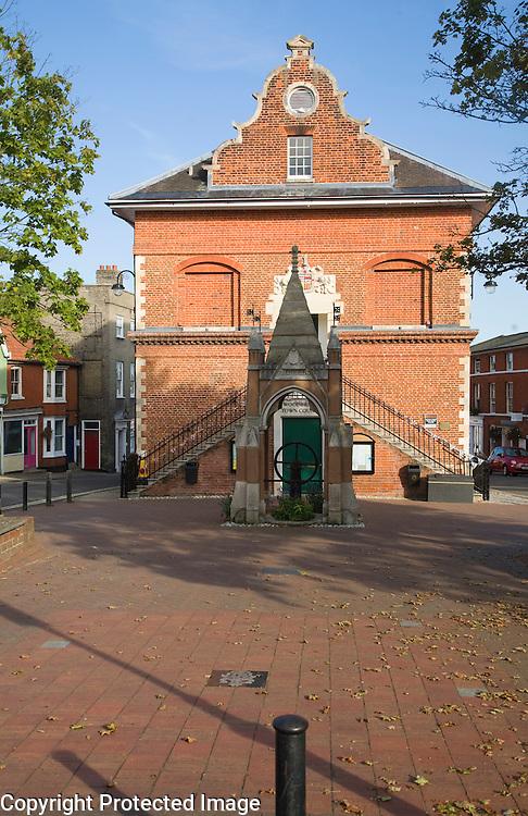 Sixteenth century Shire Hall building 1575 built by Thomas Seckford, Woodbridge, Suffolk, England