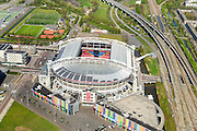 Nederland, Noord-Holland, Amsterdam, 09-04-2014; ArenA-gebied met stadion Arena en Arena Boulevard.<br /> Arena area with Ajax stadium<br /> luchtfoto (toeslag op standard tarieven);<br /> aerial photo (additional fee required);<br /> copyright foto/photo Siebe Swart
