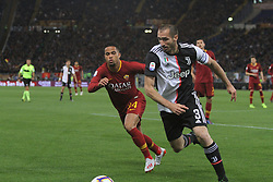 May 12, 2019 - Rome, Italy, Italy - (Giorgio Chiellini, Justin Kluivert) At Stadio Olimpico, As Roma beat Juventus 2-0  with the goal of Alessandro Florenzi and Edin Dzeko (Credit Image: © Paolo Pizzi/Pacific Press via ZUMA Wire)