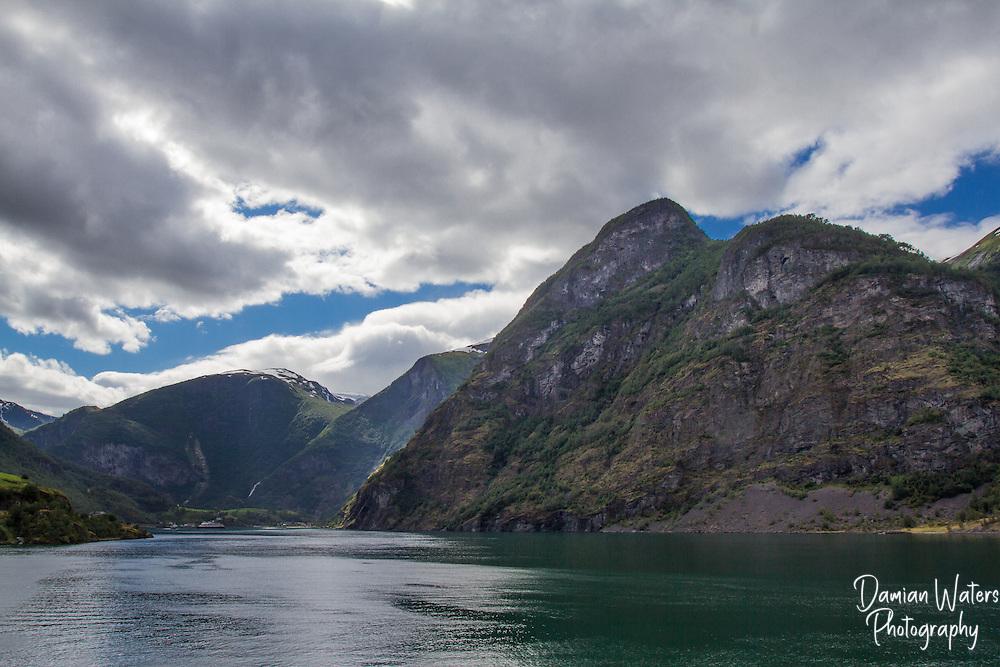 View towards Flam along Aurlandsfjorden, Norway - August