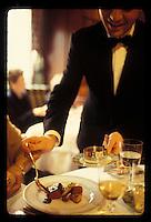 Waiter saucing venison at restaurant Alain Ducasse, Paris- Photograph by Owen Franken - Photograph by Owen Franken