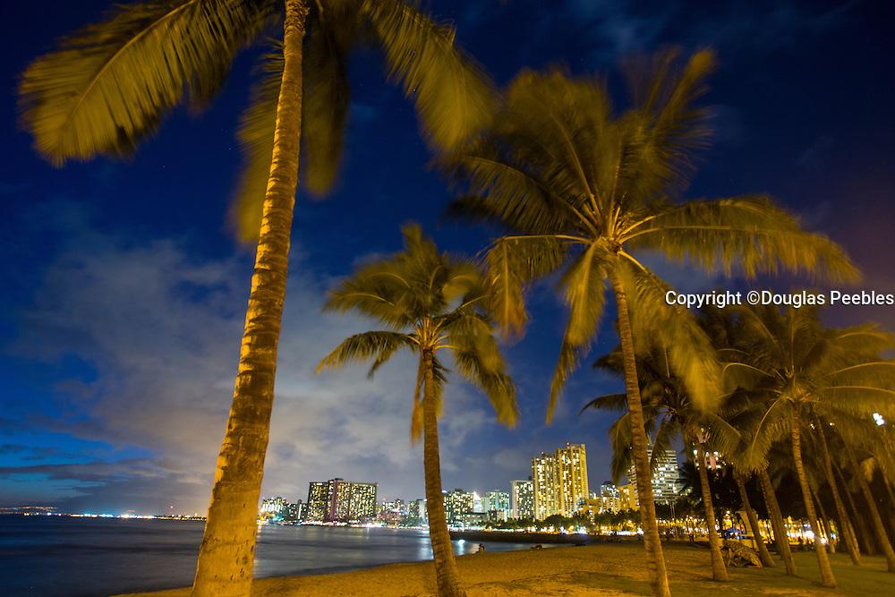 Twilight, Waikiki, Honolulu, Oahu, Hawaii