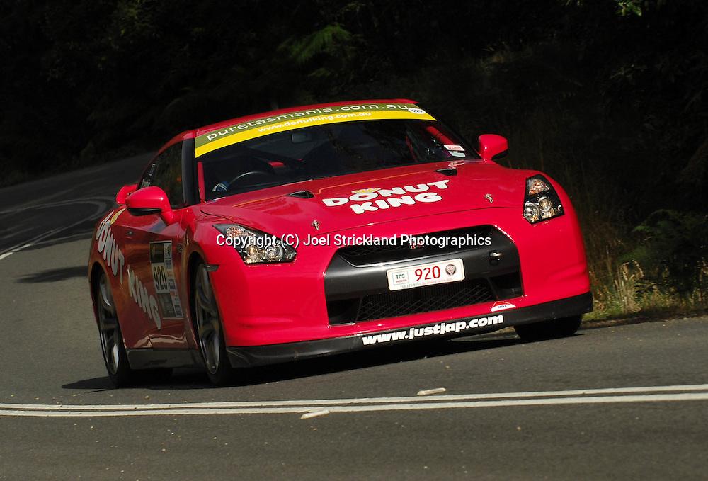 Peter Leemhuis & Ben Fitzsimons .2008 Nissan GTR .Day 2.Targa Tasmania 2009.30th of April 2009.(C) Joel Strickland Photographics.