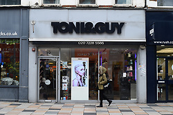 A view of a Tony & Guy branch in London.