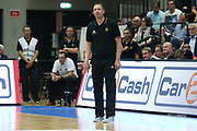 Basketball: Supercup, Deutschland - Russland, Hamburg, 18.08.2017<br /> Trainer Chris Flemming (GER)<br /> © Torsten Helmke