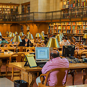 People studying in New York Public Library