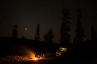 Van camping in central Oregon.