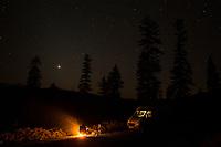 Van camping in central Oregon.
