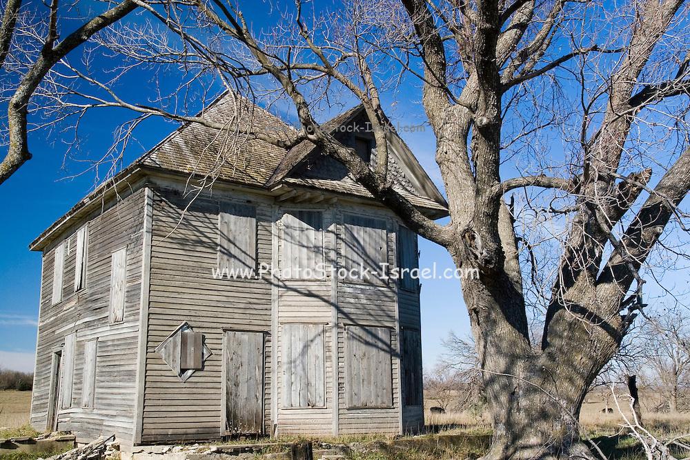 Kansas KS USA old dilapidated house in the Kansas country