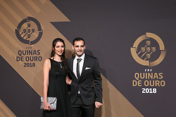 March 19, 2018 - Lisbon, Lisbon, Portugal - Fabio Cecilio futsal player (R) poses on arrival at 'Quinas de Ouro' 2018 ceremony held and the Pavilhao Carlos Lopes in Lisbon, on March 19, 2018. (Credit Image: © Dpi/NurPhoto via ZUMA Press)