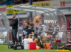 Motherwell's Chris Cadden not happy being subbed. Dundee 1 v 3 Motherwell, SPFL Ladbrokes Premiership game played 1/9/2018 at Dundee's Kilmac stadium Dens Park