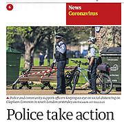 The Guardian newspaper cutting