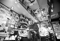 Bob Woodall of Focus Productions in his Teton Village office.