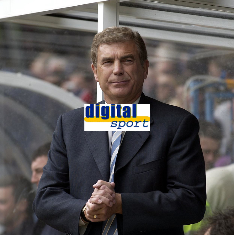 Copyright Sportsbeat. 0208 3926656<br />Picture: Henry Browne<br />Date: 11/05/2003<br />Birmingham City v West Ham United FA Barclaycard Premiership<br />Trevor Brooking looks pensive before the match