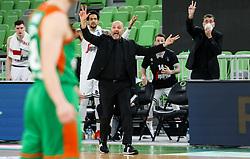 Aleksandar Djordjevic, coach of Virtus during basketball match between KK Cedevita Olimpija (SLO) and Virtus Segafredo Bologna (ITA) in Top 16 Round 5 of 7DAYS Eurocup 2020/21, on March 2, 2021 in Arena Stozice, Ljubljana, Slovenia. Photo by Vid Ponikvar / Sportida