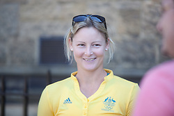 © London News Pictures. 23/07/2012. Tonbridge, Kent. Kim Mickle - javelin. Photocall for the Australian Olympic Athetics team who are based at Tonbridge School in Kent.
