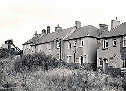 Empty housing Nottingham UK 1987