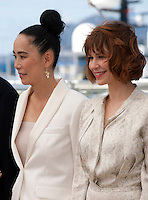 Naomi Kawase and Marie-Josee Croze at the Cinefondation and Short Films Jury photo call at the 69th Cannes Film Festival Thursday 19th May 2016, Cannes, France. Photography: Doreen Kennedy