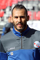 Khalid Boutaib  of Strasbourg during the Ligue 2 match between Stade Brestois and RC Strasbourg Alsace  on October 15, 2016 in Brest, France. (Photo by Eddy Lemaistre/Icon Sport )