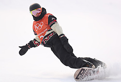 Canada's Mark McMorris in run 2 of qualification for Men's Snowboard Slopestyle the PyeongChang 2018 Winter Olympic Games in South Korea.